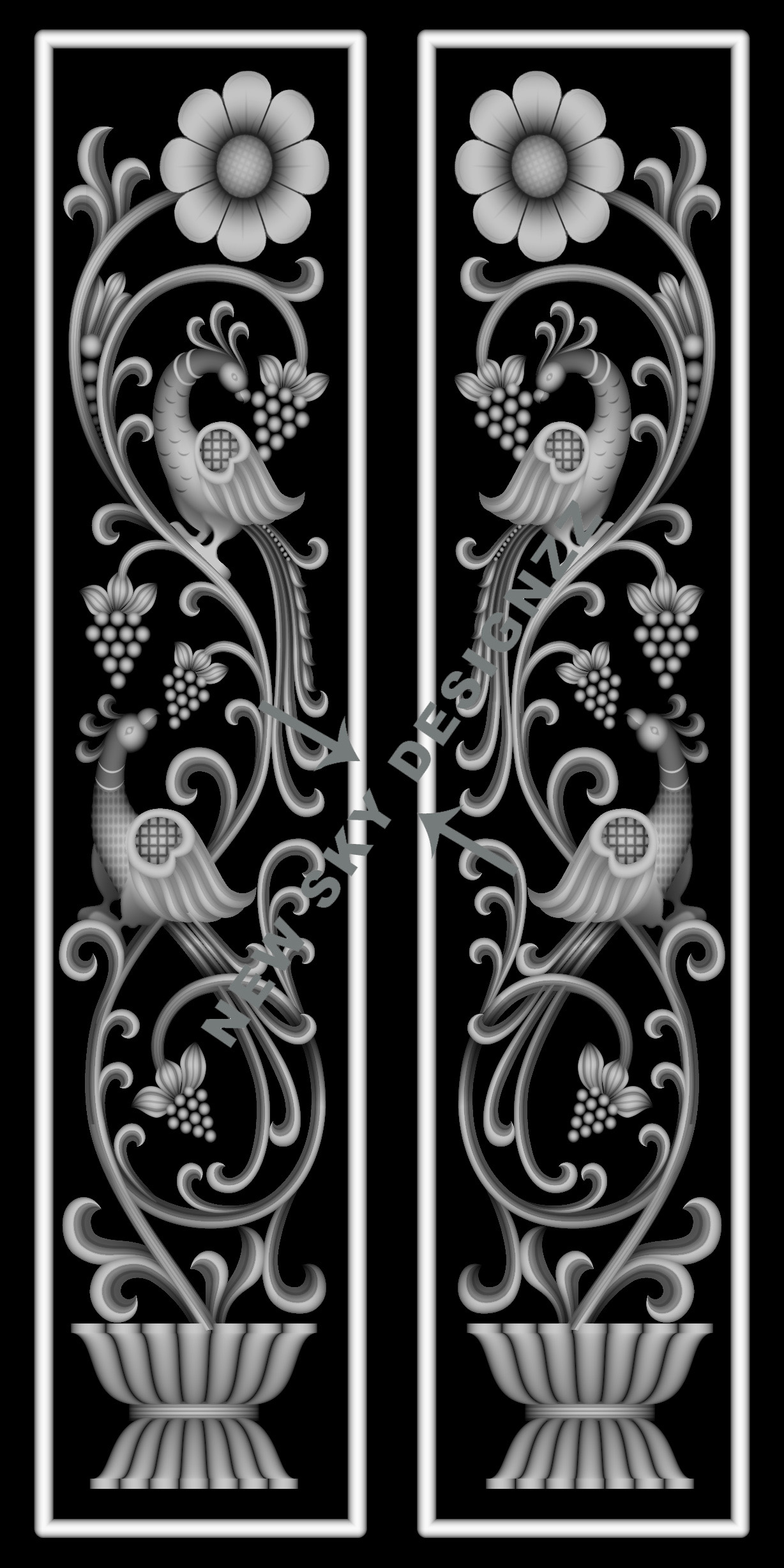 artcam double door design
