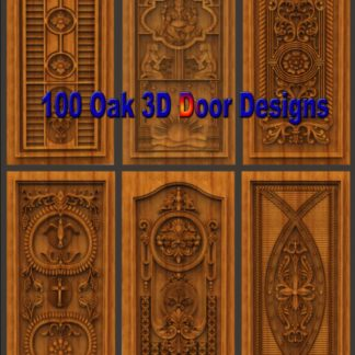 100 Oak Artcam 3D Door Designs